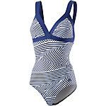 adidas INFINITEX-PREMIUM Schwimmanzug Damen weiß/blau