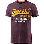 Superdry Printshirt Herren bordeaux/gelb
