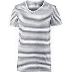 GARCIA T-Shirt Herren weiß/gestreift
