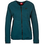 Nike Tech Fleece Bomber Sweatjacke Damen petrol / schwarz