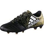 adidas X 16.3 FG Leather Fußballschuhe Herren schwarz/gold