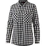 TOM TAILOR Langarmhemd Damen dunkelblau/weiß