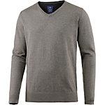 TOM TAILOR V-Pullover Herren braun/grau