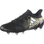 adidas X 16.1 FG Leather Fußballschuhe Herren schwarz/gold