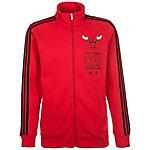 adidas Chicago Bulls Basics Trainingsjacke Herren rot / schwarz