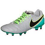 Nike Tiempo Genio II Leather Fußballschuhe Herren hellgrau / grün