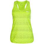 Nike Dry Tennisshirt Damen neongelb / schwarz
