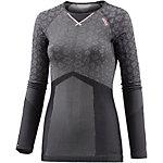 Odlo Blackcomb Evolution warm Skishirt Damen grau/schwarz