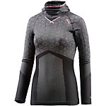 Odlo Blackcomb Evolution warm Skishirt Damen grau/schwarz