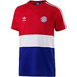 adidas FC Bayern Block Design Fanshirt Herren weiß/rot/blau