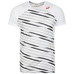 ASICS Athlete Tennisshirt Herren weiß / grau