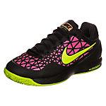 Nike Zoom Cage 2 Tennisschuhe Damen schwarz / neongelb