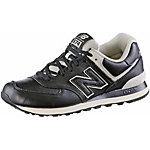 NEW BALANCE ML 574 Premium Leather Sneaker Herren schwarz