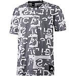 adidas Icon T-Shirt Herren weiß/grau