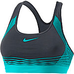 Nike Pro Hyper Classic Sport-BH Damen schwarz/grün