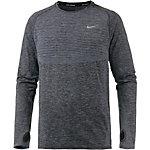 Nike Dri-Fit Knit Laufshirt Herren anthrazit