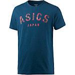 ASICS Logo Printshirt Herren blau
