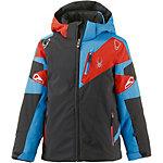 Spyder Skijacke Jungen schwarz/rot/blau