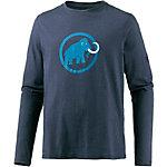 Mammut Logo Langarmshirt Herren marine