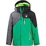Spyder Skijacke Jungen dunkelgrün/schwarz
