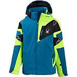 Spyder Skijacke Jungen blau/grün/schwarz