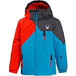 Spyder Skijacke Jungen blau/rot/grau