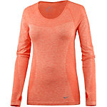 Nike Dri-Fit Knit Laufshirt Damen orange