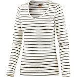 Icebreaker Oasis Langarmshirt Damen weiß/grau