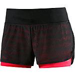 adidas Gym 2in1 Mesh Funktionsshorts Damen schwarz/rot