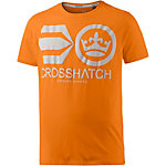 Crosshatch T-Shirt Herren orange