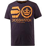 Crosshatch T-Shirt Herren aubergine