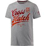 Crosshatch T-Shirt Herren graumelange