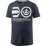Crosshatch T-Shirt Herren dunkelblau