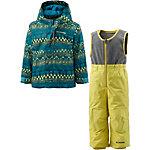 Columbia Schneeanzug Kinder petrol/neongelb