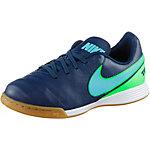 Nike JR TIEMPOX LEGEND VI IC Fußballschuhe Kinder blau/grün
