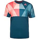 adidas Multifaceted Pro Tennisshirt Herren dunkelblau / rosa