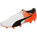 PUMA evoSPEED SL-S II Fußballschuhe Herren weiß / orange