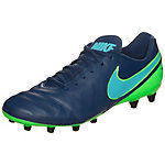 Nike Tiempo Genio II Leather Fußballschuhe Herren blau / grün