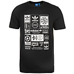 adidas Vintage Trefoil T-Shirt Herren schwarz / weiß