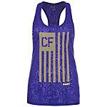 Reebok CrossFit Flag Camo Burnout Funktionstank Damen lila / gelb