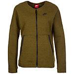 Nike Tech Fleece Bomber Sweatjacke Damen oliv / schwarz