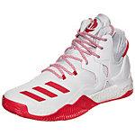 adidas D Rose 7 Basketballschuhe Herren weiß / rot