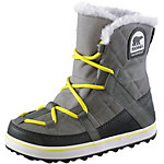 Sorel Glacy Explorer Shortie Winterschuhe Damen grau/gelb