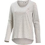Cleptomanicx Harbour Langarmshirt Damen weiß/rosa