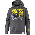 Crosshatch Sweatshirt Herren anthrazit