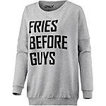 Only Sweatshirt Damen hellgrau melange