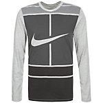 Nike Practice Court Logo Tennisshirt Herren grau / anthrazit