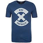 Nike Football X Logo T-Shirt Herren blau / silber