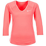 Nike Court Pure Tennisshirt Damen korall / weiß