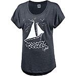 Ezekiel Boat Doman Printshirt Damen navy